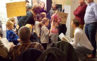 Protest tegen verdwijnen speeltuintjes
