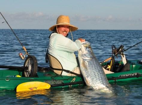 Tarpon caught from kayak
