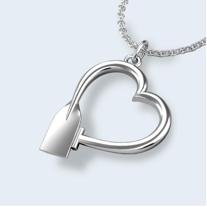 Strokeside Designs Heart Pendant