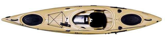 Riot Kayaks Enduro 12 Angler Flatwater Fishing Kayak - top view