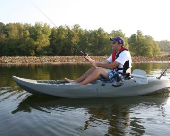 The Lifetime Sport Fisher is a popular fishing kayak