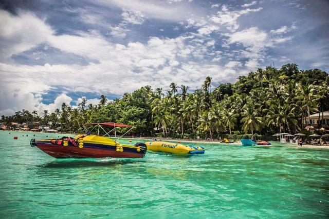 Kayaking in Boracay, Philippines