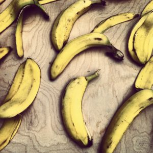 Rotting bananas release ethylene gas which ripens other fruit