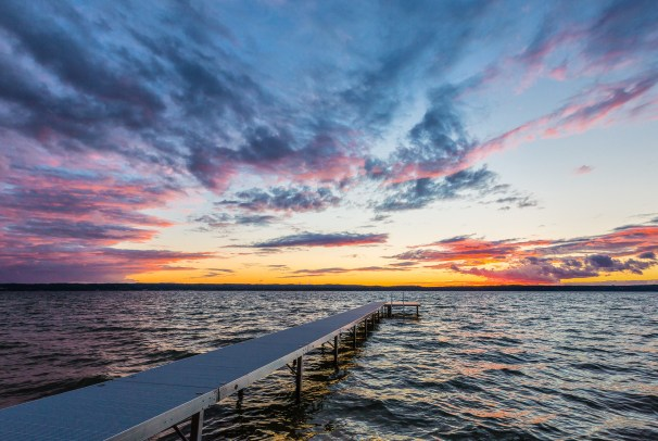 Sunset over Traverse Bay