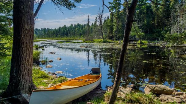 Kayaking in the wilderness at Boundary Waters
