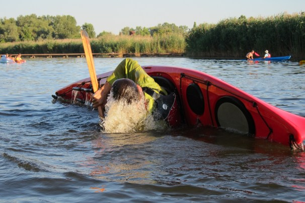 Sea kayaking lessons teach you how to roll a kayak