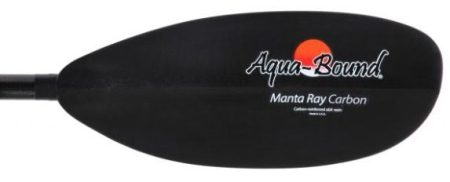 Aquabound Manta Ray Carbon Posi-Lok 2 Piece Kayak Paddle - blade