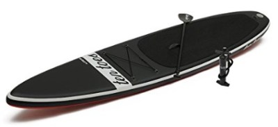 Ten Toes iSUP Jetsetter Inflatable Touring Standup Paddleboard - Black Red color with paddle and pump