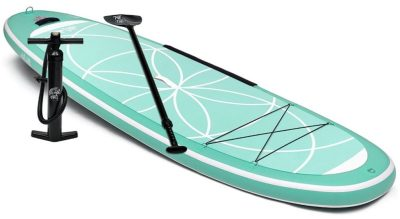 Ten Toes Yogi Inflatable Stand Up Paddle Board for Yoga SUP with paddle and pump