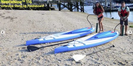 Sea Eagle NN116 Needle Nose Inflatable SUP - easy to inflate with high pressure pump