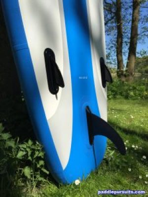 iRocker Cruiser iSUP - 3 fins, 1 large removalable fin