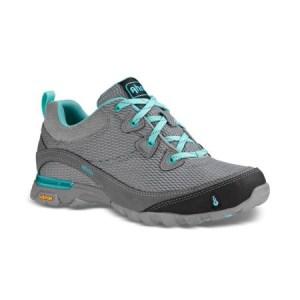 Women's Ahnu Sugarpine Air Mesh Hiking Shoe   Medium Grey   Side View