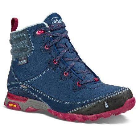 Women's Ahnu Sugarpine Waterproof Hiking Boot | Blue Spell | Side View
