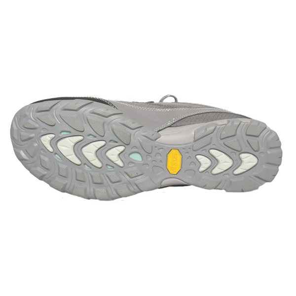 Women's Ahnu Sugarpine Waterproof Hiking Shoe | Dark Grey | Bottom View