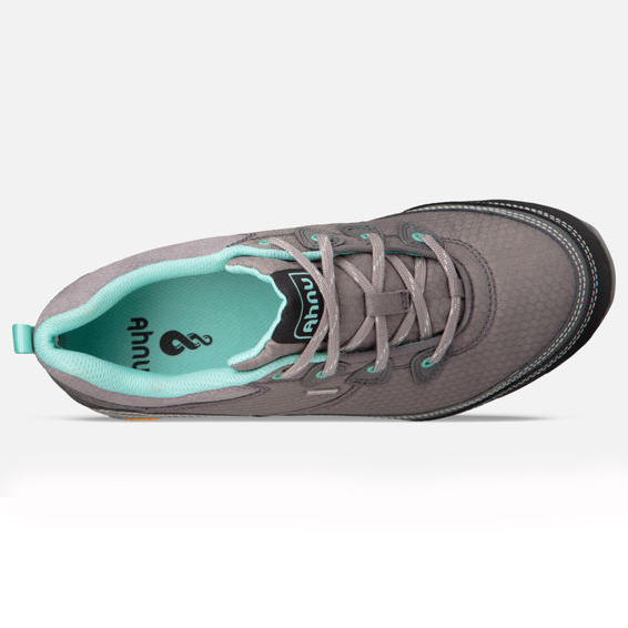 Women's Ahnu Sugarpine Waterproof Hiking Shoe | Dark Grey | Top View