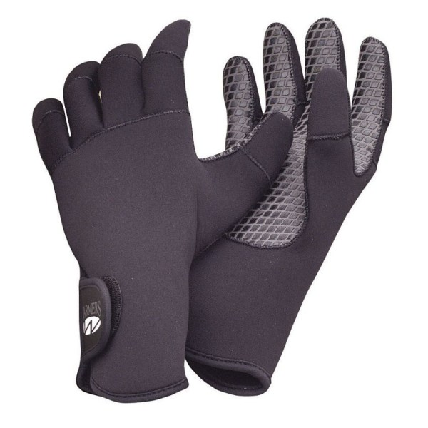 Aqua Lung Neoprene Paddler's Gloves   Black   Front and Back View
