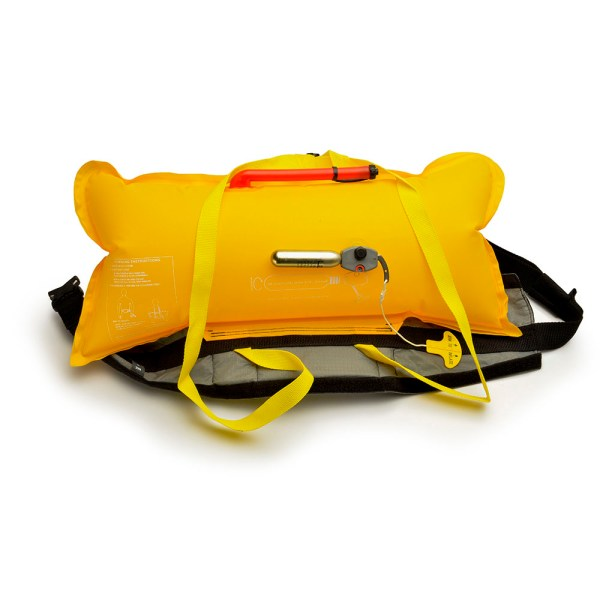 Unisex Astral Inflatable Waist Airbelt PFD | Black | Inflated View