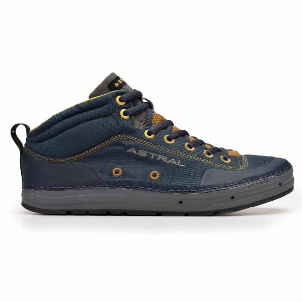 Men's Astral Rassler Water Shoe | Navy Brown | Side View