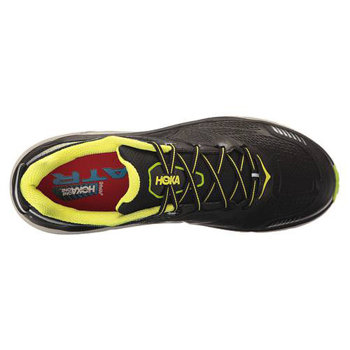 Men's Hoka One One Challenger ATR 3 Trail Running Shoe | Black Bright Green | Top View