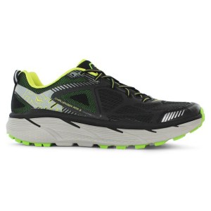 Men's Hoka One One Challenger ATR 3 Trail Running Shoe | Black Bright Green | Side View