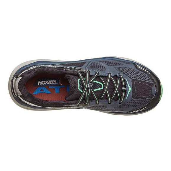 Women's Hoka One One Challenger ATR 3 Trail Running Shoe | Midnight Navy Spring Bud | Top View