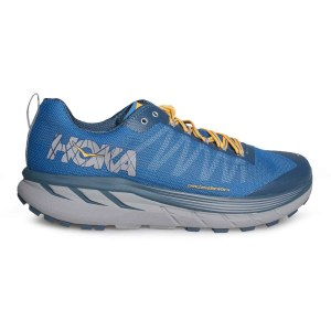 Men's Hoka One One Challenger ATR 4 Trail Running Shoe | Mykonos Blue Legion | Side View