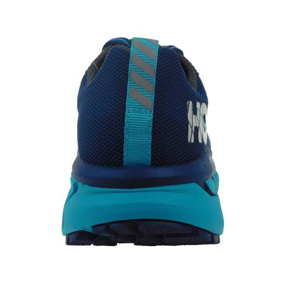 Women's Hoka One One Challenger ATR 4 Trail Running Shoe | Poseidon Bluebird | Back View