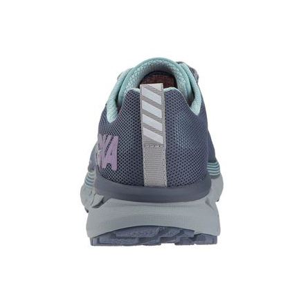 Women's Hoka One One Challenger ATR 4 Trail Running Shoe | Aquifer Vintage Indigo | Back View