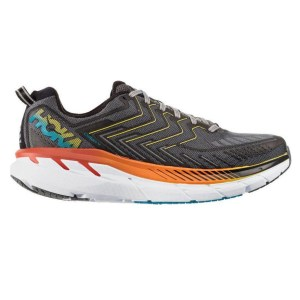 Men's Hoka One One Clifton 4 Running Shoe | Castlerock Atomic Blue | Side View