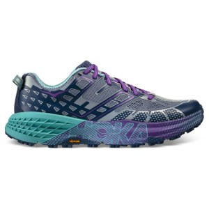Women's Hoka One One Speedgoat 2 Trail Running Shoe | Tradewinds Vintage Indigo | Side View