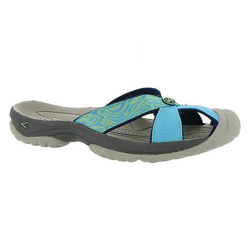Women's Keen Bali Flip Flop   Norse Blue Opal   Side View