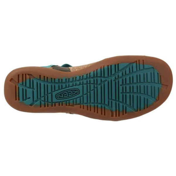 Women's Keen Dauntless Posted Sandal | Burnt Olive | Bottom View