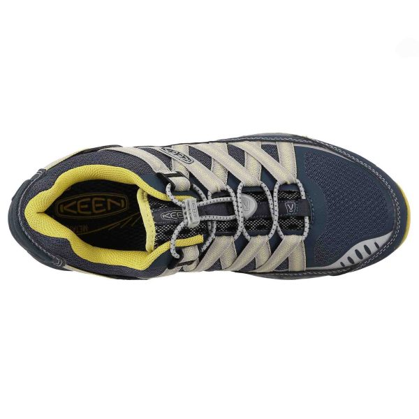 Men's Keen Versatrail Shoe   Midnight Navy Warm Olive   Top View