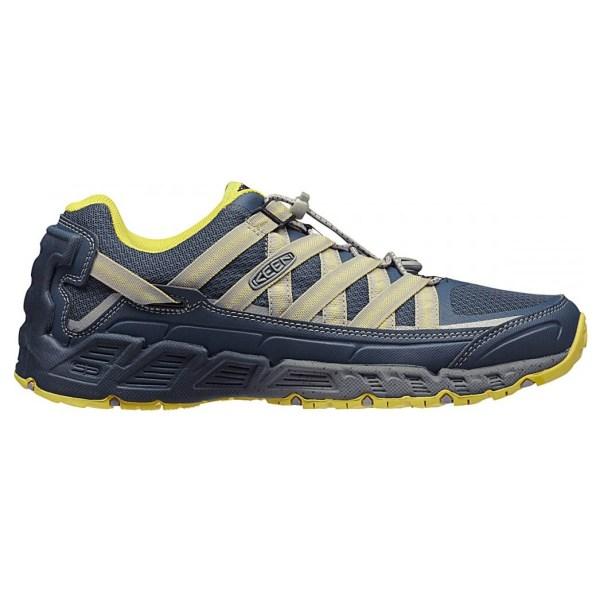 Men's Keen Versatrail Shoe | Midnight Navy Warm Olive | Side View