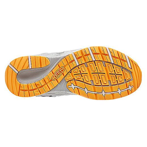 Women's Keen Versatrail Shoe | Neutral Gray Saffron | Bottom View