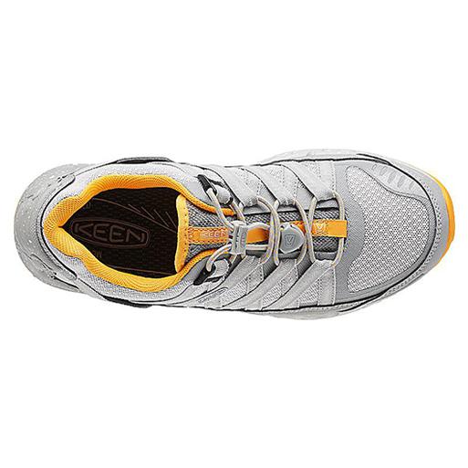 Women's Keen Versatrail Shoe   Neutral Gray Saffron   Top View