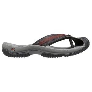 Men's Keen Waimea H2 Flip Flop | Raven Burnt Orchre | Side View