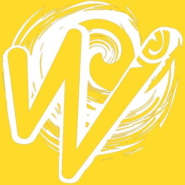 White Waka Splash Emblem   Yellow Background