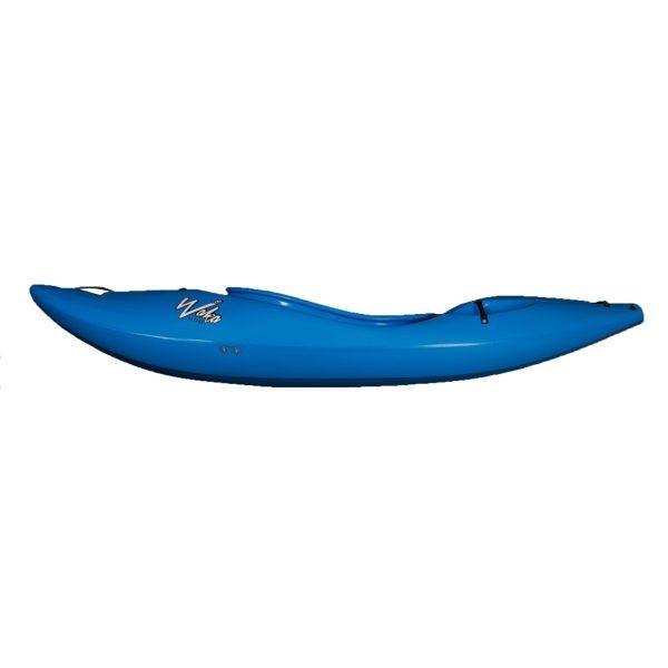Waka Kayaks OG Whitewater Kayak River Runner | Blue | Side View