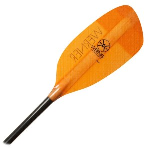 Werner Player Paddle | Orange | Blade Detail
