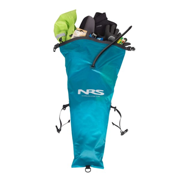 NRS HydroLock Kayak Stow Float   Blue   Open View