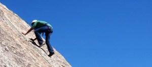 Rock Climbing Action Scene