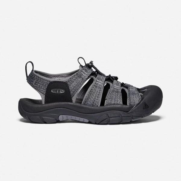 Keen Men's Newport H2 Sandal | Black/Steel Grey | Side View