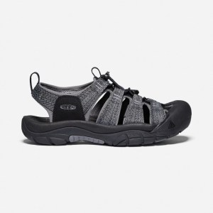Keen Men's Newport H2 Sandal | Black/Steel Grey | Side View