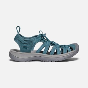 Keen Women's Whisper Sandal | Smoke Blue | Side View