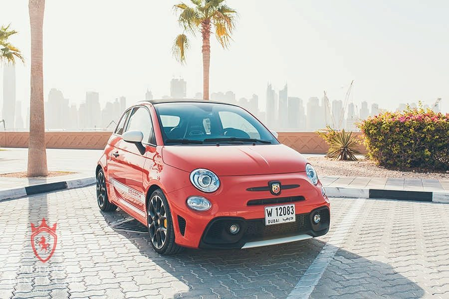 Rent Fiat Abarth 595 Convertible Red in Dubai
