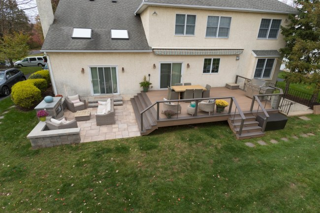 Deck patio combination top view.