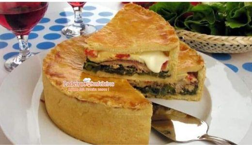 Torta de Escarola e Sardinha - Venha aprender a sua