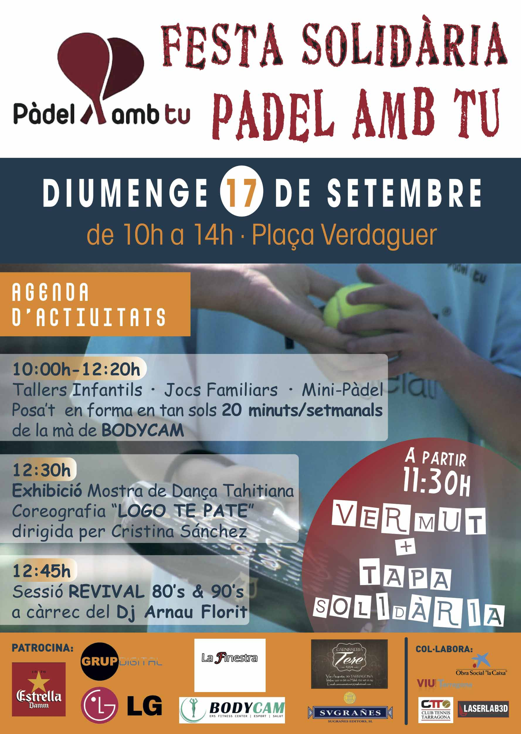 FESTA SOLIDÀRIA PÀDEL AMB TU – Santa Tecla 2017