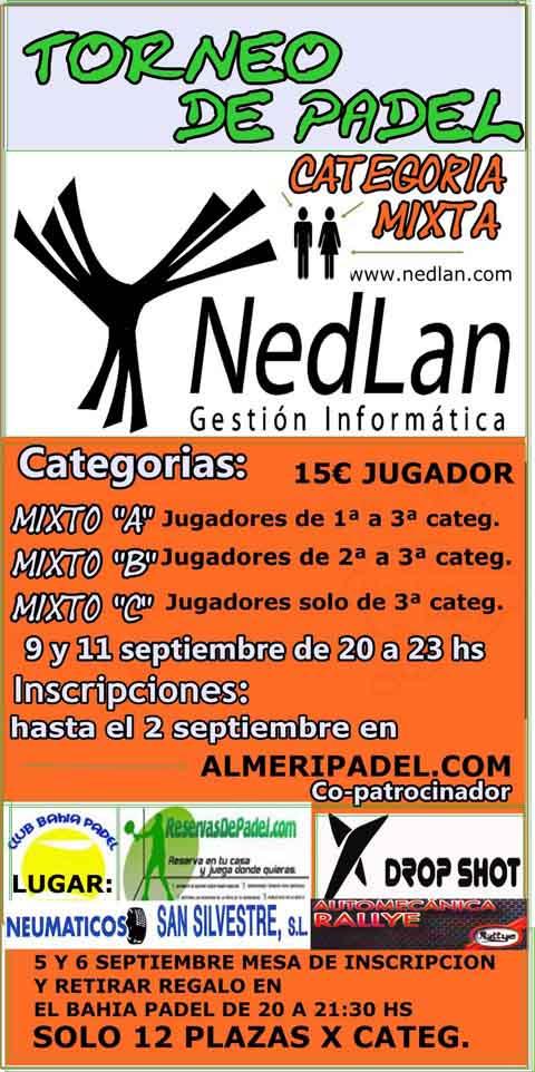 nedlan padelgood Torneo de Padel NedLan. Categoría mixta. Almería.